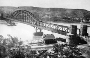 Ludendorff Bridge at Remagen, Germany in the 1920