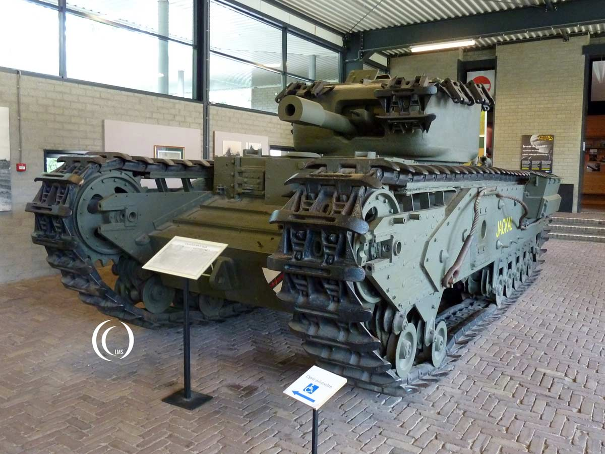 Churchill Mk V tank Jackal at Overloon