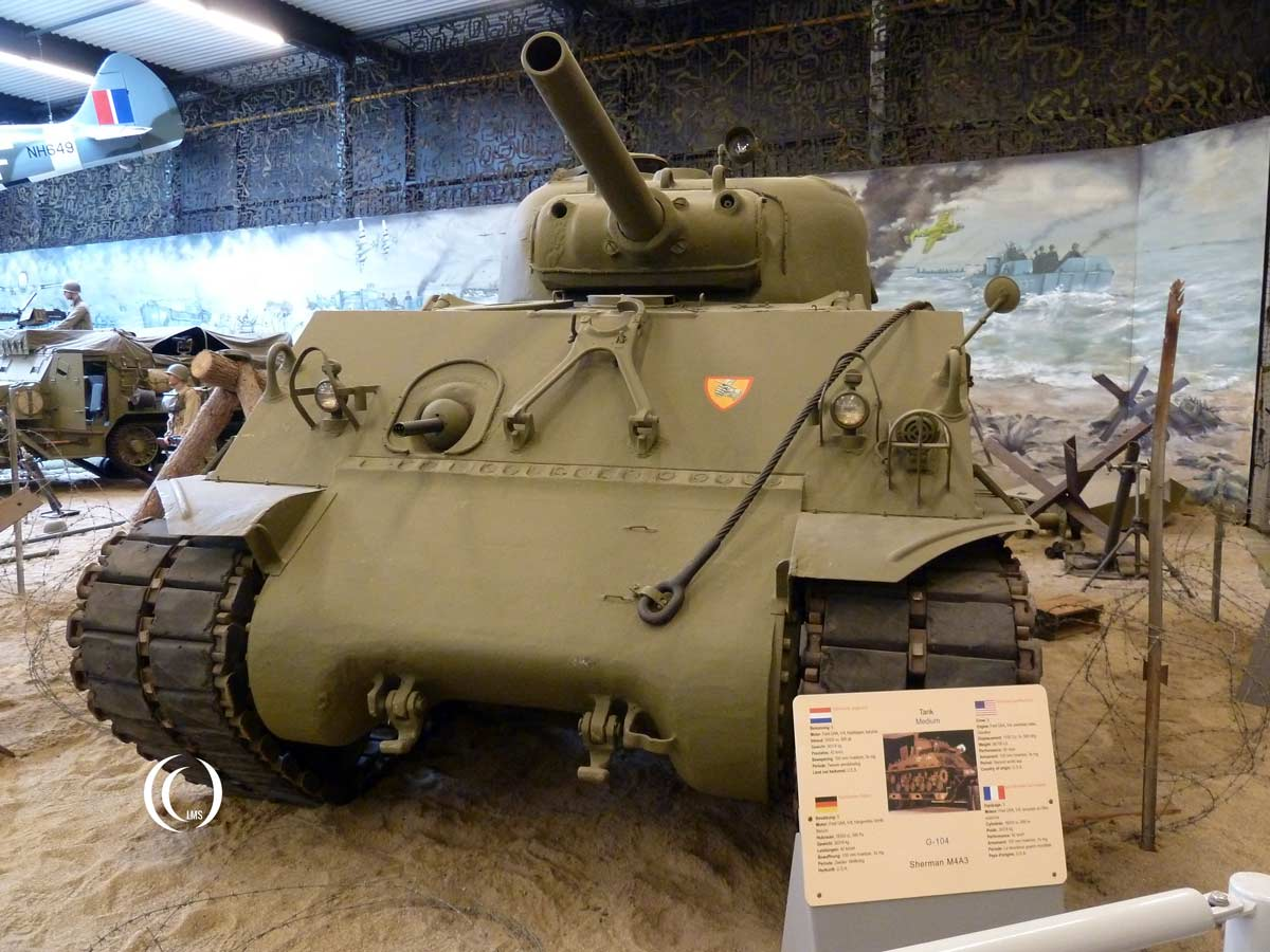 Sherman M4A3 with 105mm Howitzer gun