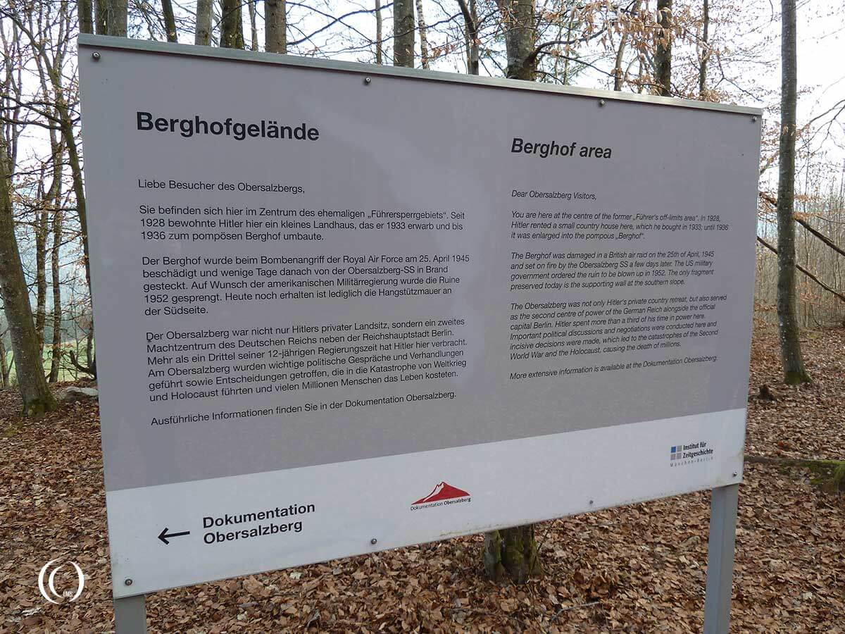 Information sign at the former Berghof Obersalzberg Germany