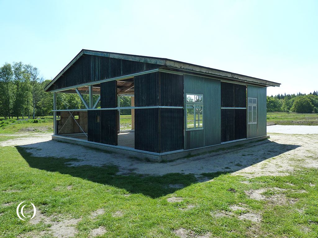 Replica of a barrack at Camp Westerbork, the Netherlands