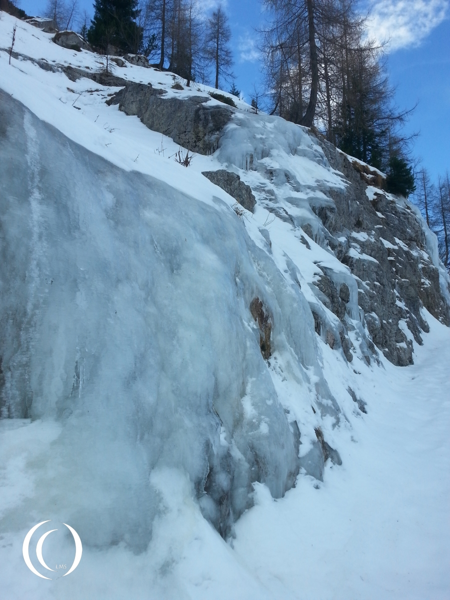Iced up wall makes a beautifull sculpture on the Obersalzberg