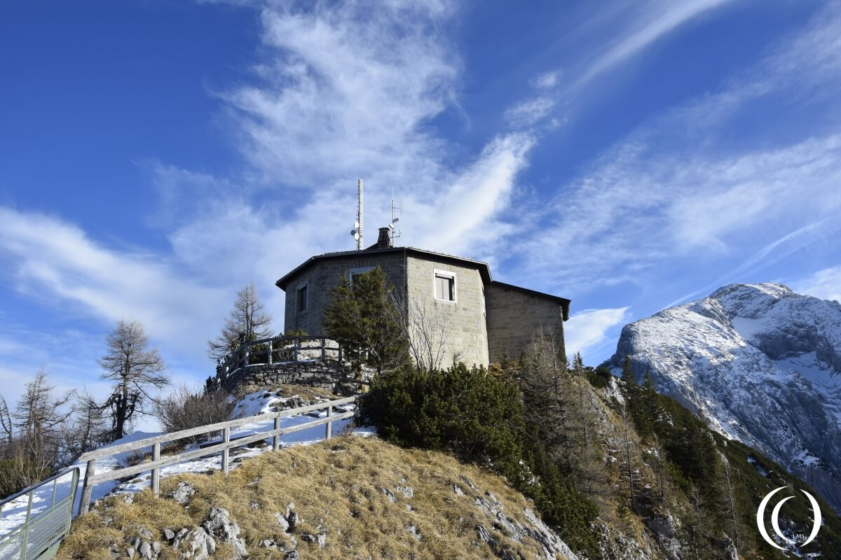 Hitler's Eagle's Nest, the Kehlsteinhaus, tea house on the Obersalzberg in Bavaria - Germany