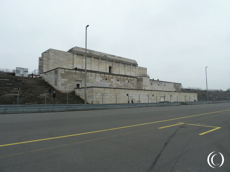 Zeppelin Field and SS Barracks at the NSDAP Rally Grounds Nuremberg Germany