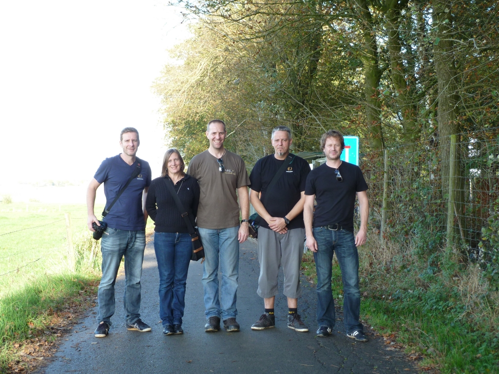 The Scouts at Ypres. Pascal, Anne, Phil, Stephan, Patrick, Photo taken by Set our youngest Scout.