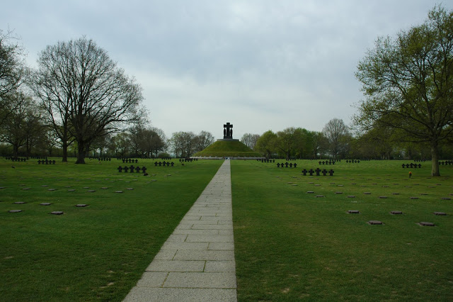 German war cemetery in La Cambe, Normandy, France