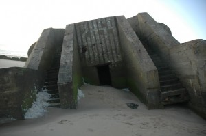 Atlantic Wall bunkers on the Wissant beach, Nord-Pas-de-Calais – France