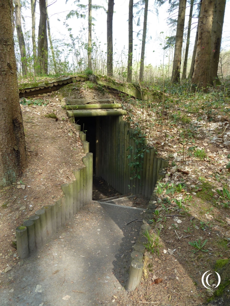 Entrance to the wooden shelter at FHQ Brûly-De-Pesche