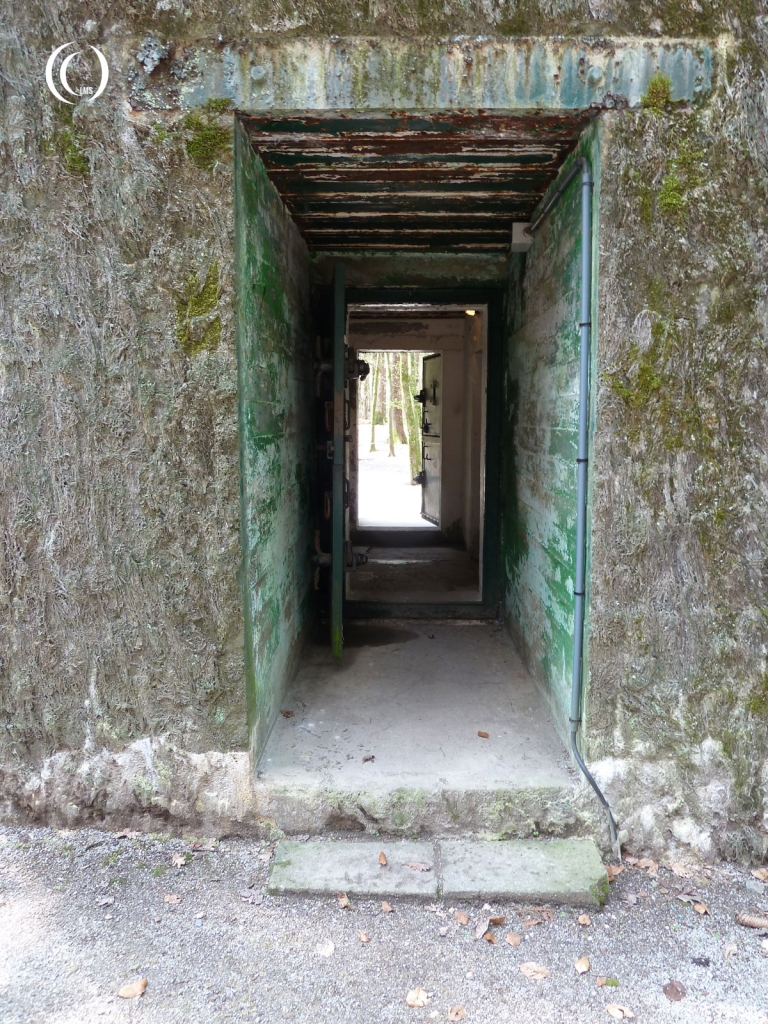 View of the bunker entrance at FHQ Brûly-De-Pesche
