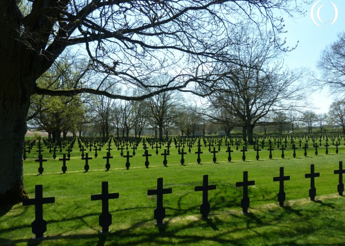 German Cemetery at Fort La Malmaison on Chemin des Dames – France