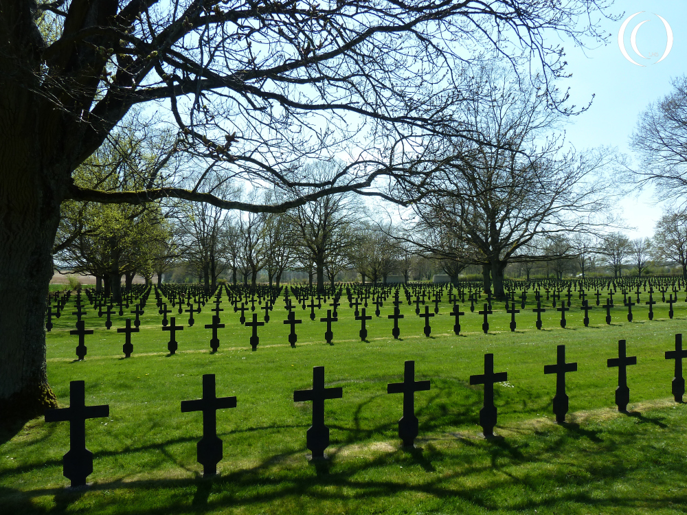 German Cemetery at Fort La Malmaison on Chemin des Dames