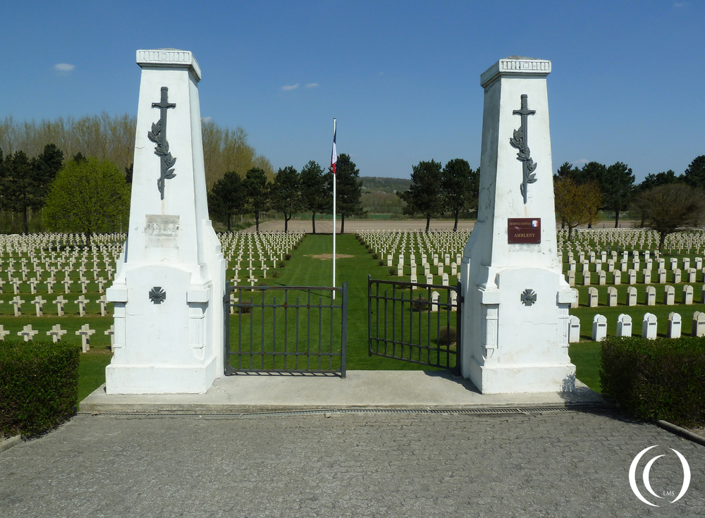 A World War One French Military Cemetery near Ambleny - France