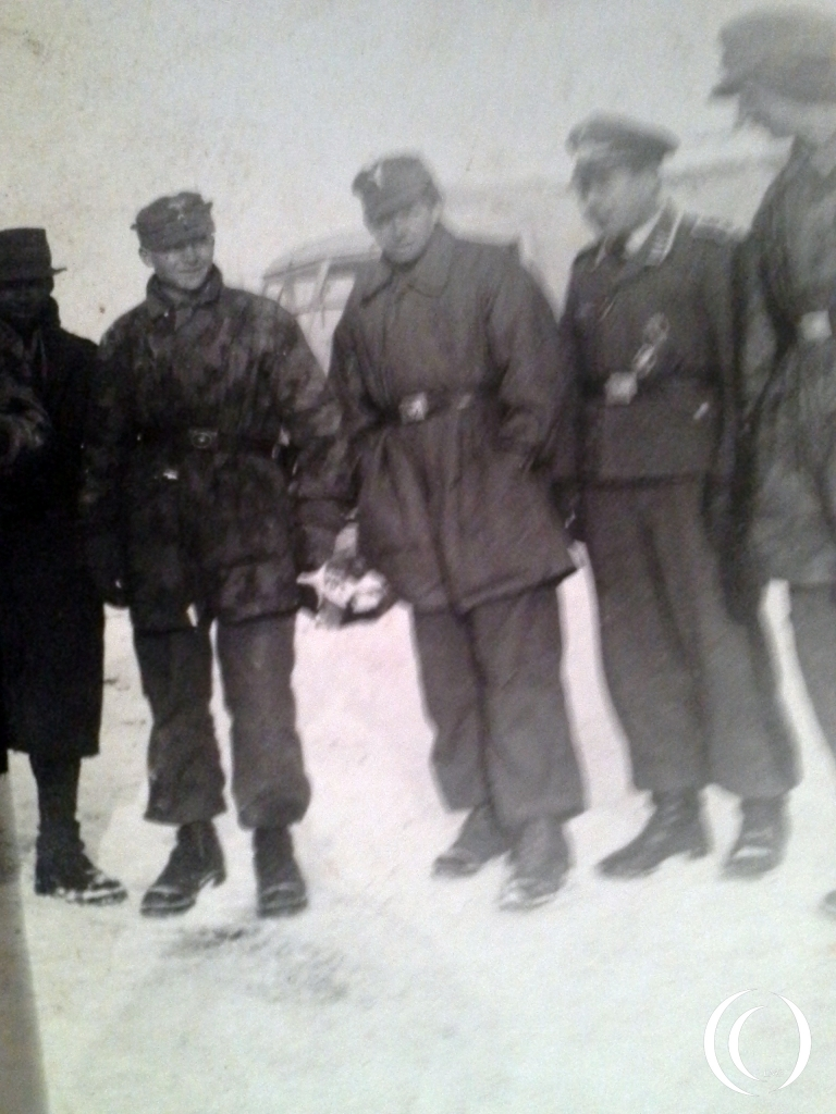 Mr. Hornig is the second on the right, with the cammoflage clothing. Photo is taken in the Russian winter.