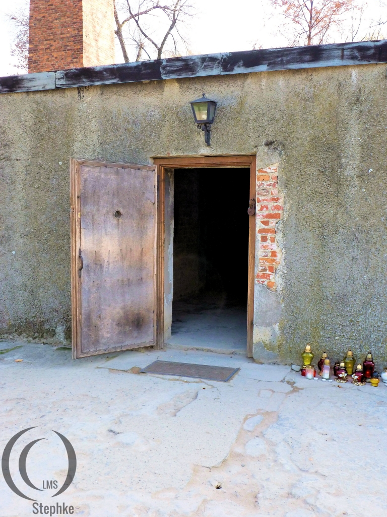Entrance to gas chamber and crema