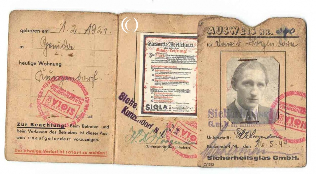 Granddads Forced Labour identification card
