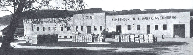 Sigla Sicherheitsglass factory at Gross Kunzendorf