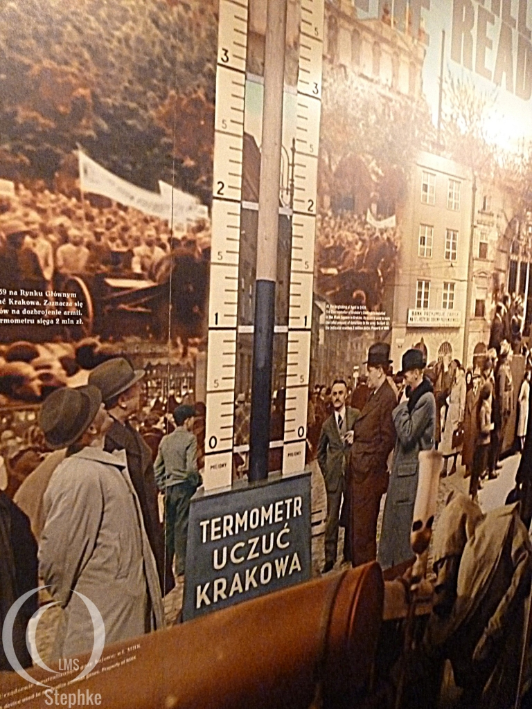 Money thermometer at beginning of war