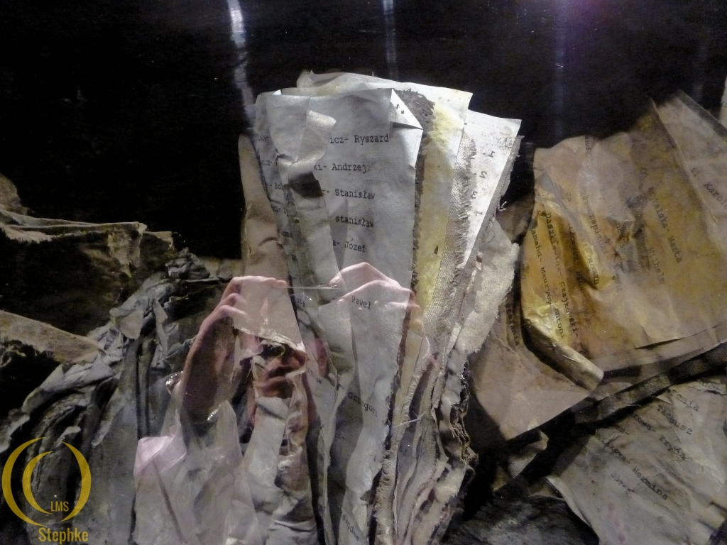 Burned books and papers