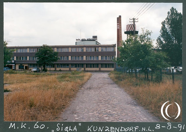 After the fall of the iron curtain my granddad visited and photographed Sigla in Kunice Poland