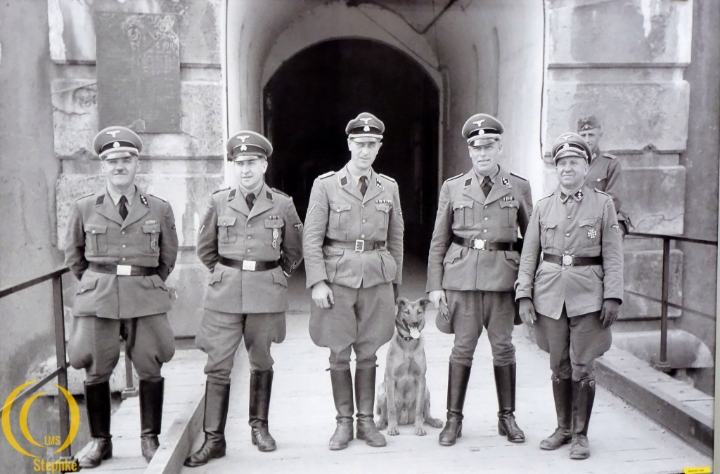 The german SS men with dog Wolff.