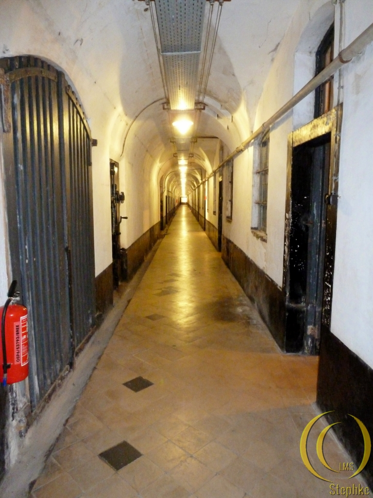 The corridor with cells