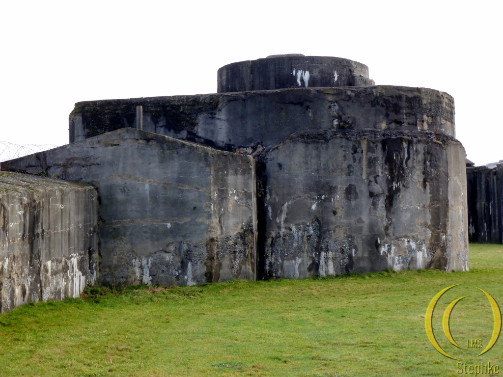 The outside of the fort. A place where one of the turrets was located.