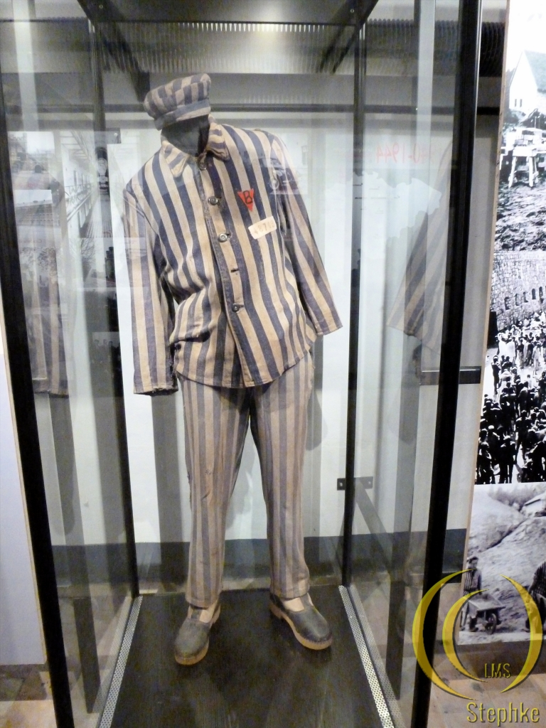 A prisoners uniform. Although most of them wore a old Belgian army uniform.