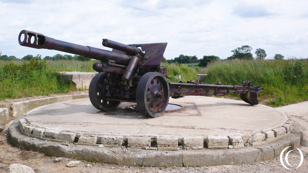 Czechoslovakian 150 mm in the Maisy Battery, photo provided by Phil Wood