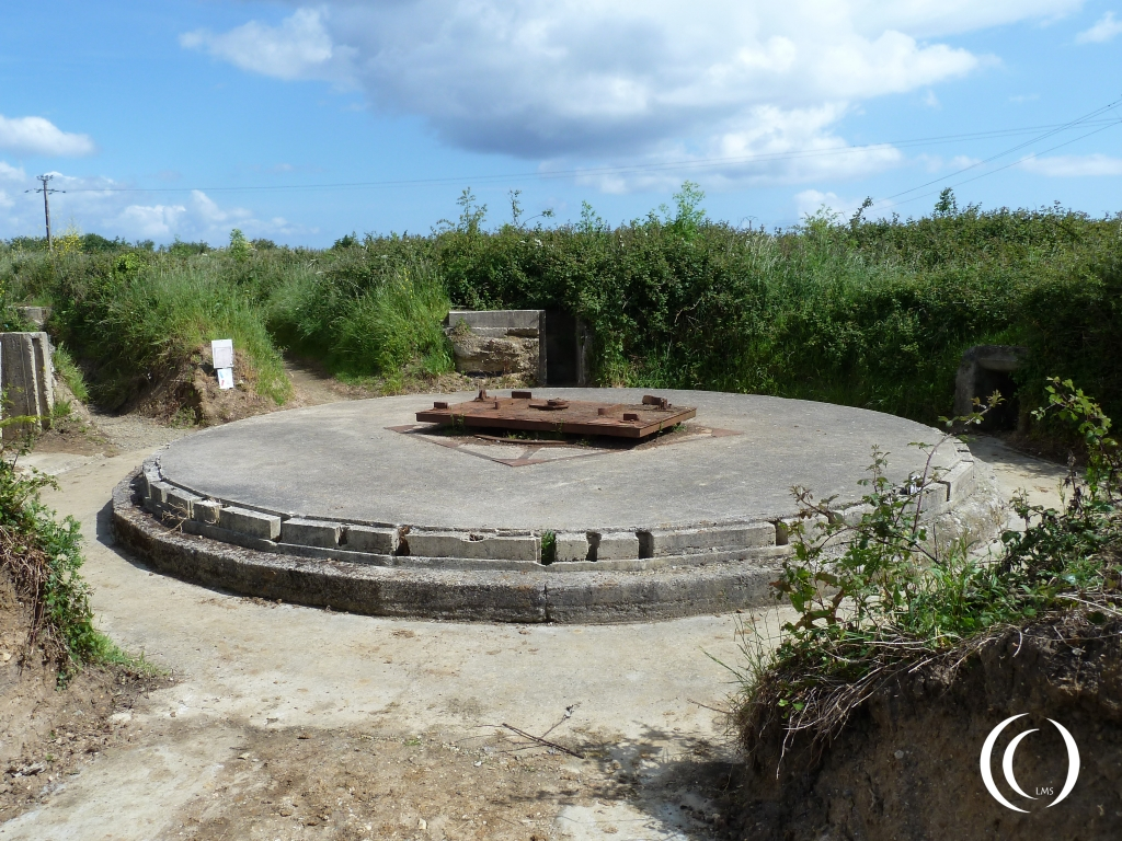 Gun position for the 155mm houwitsers