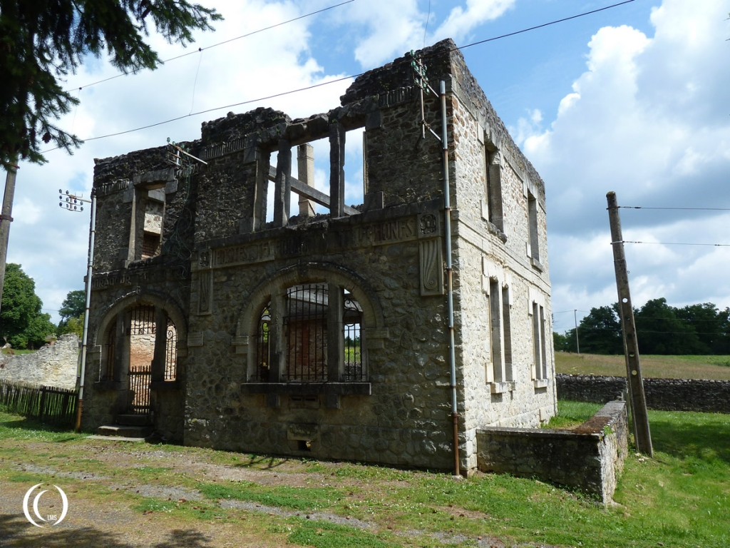 The post office of Oradour-sur-Glane