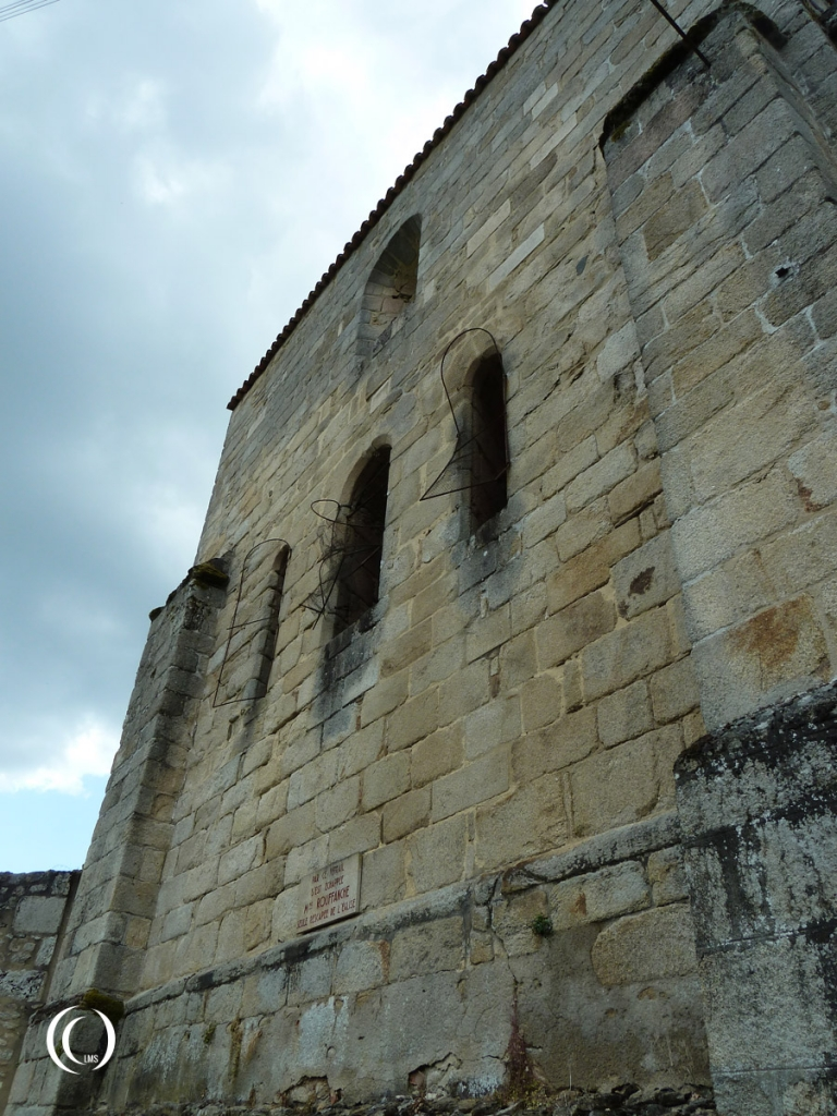 The window that Mme Rouffanche jumped from (lowest window in the center) - Oradour-sur-Glane