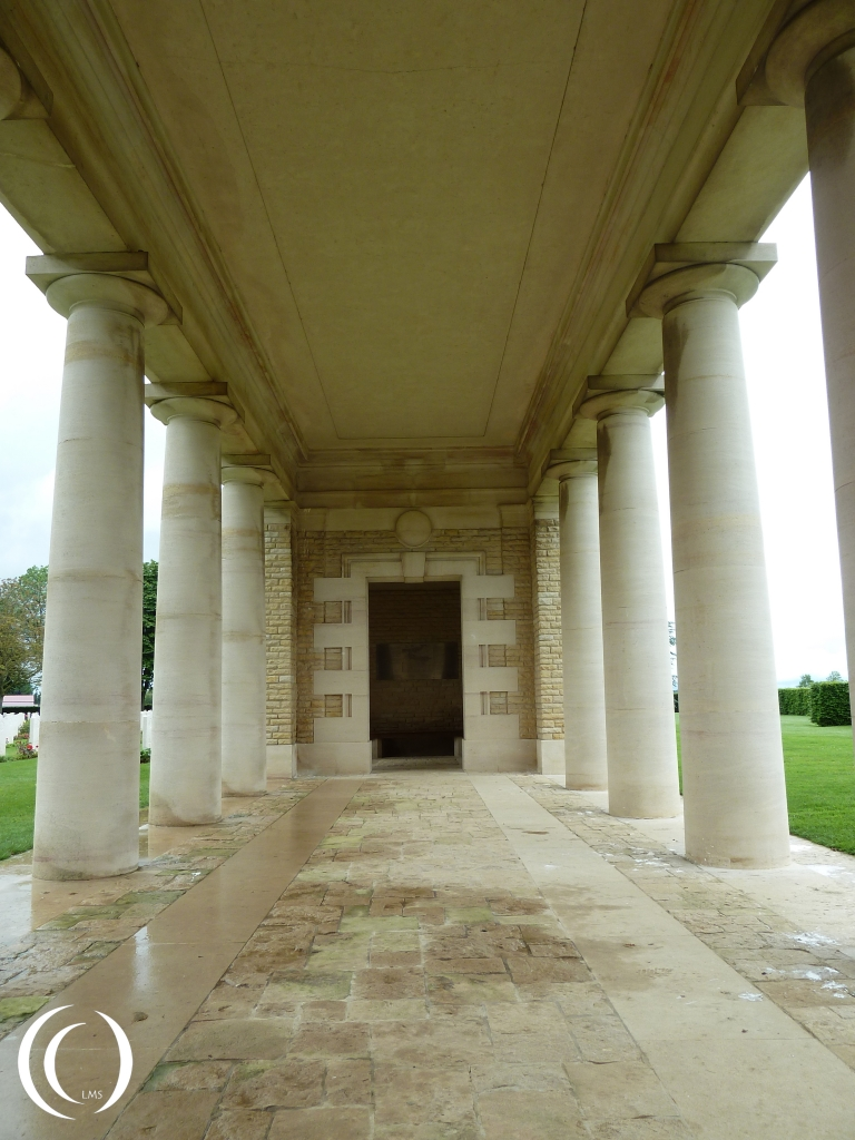 Hypostyle Hall in Canadian War Cemetery Bretteville-Sur-Laize