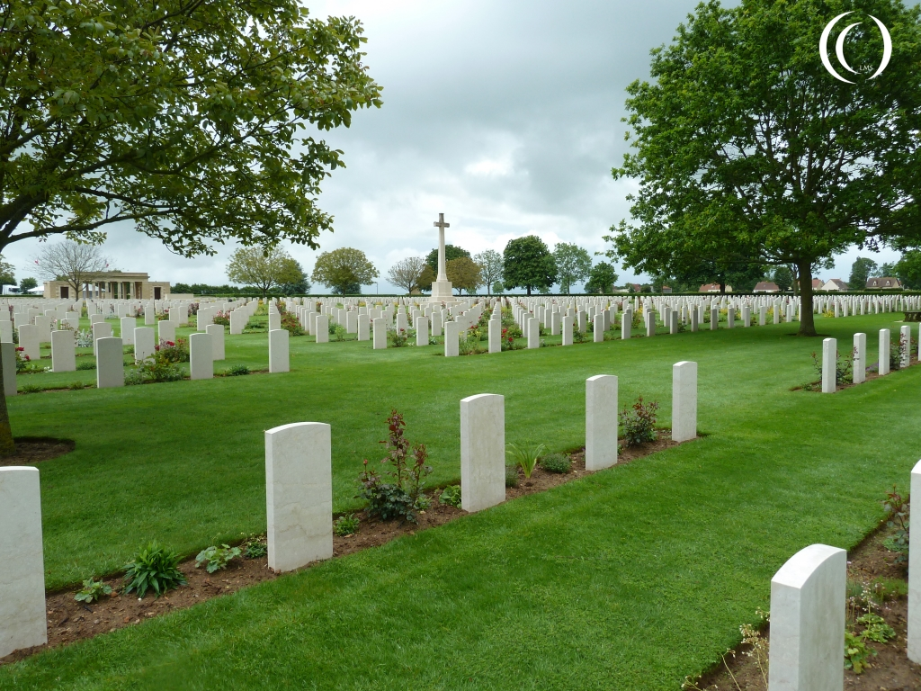 Overview on Canadian War Cemetery Bretteville-Sur-Laize