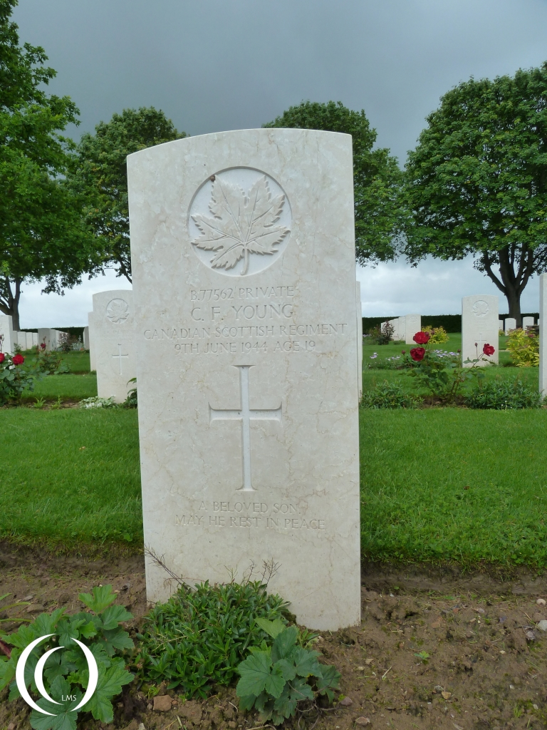 F.C. Young, Fallen on the 9th of June 1944, 3 days after D-Day