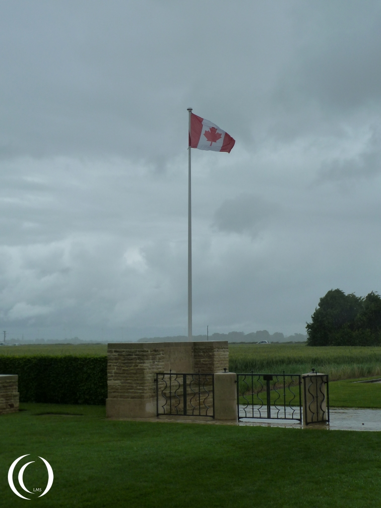 Canadian Flag at Bretteville-Sur-Laize