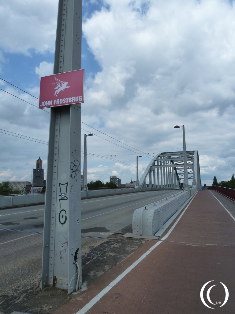 The John Frost Bridge, the Southern side of the Rhine