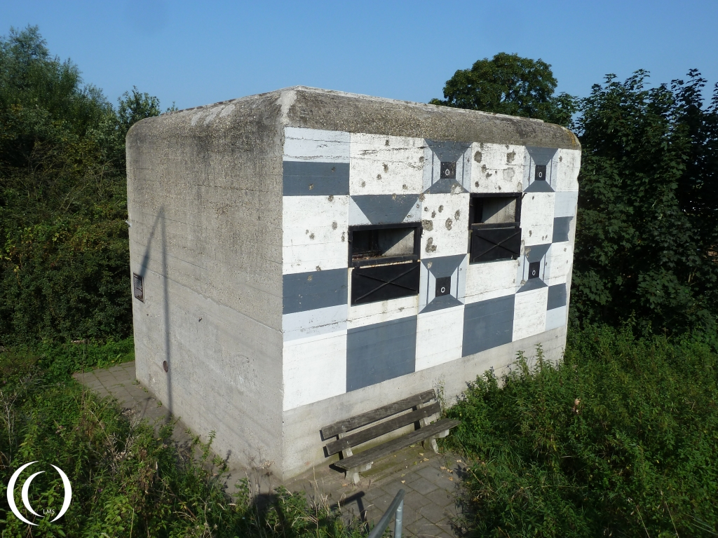 South Dutch build Casemate, type B-270 - with damage from the 504th PIR from the 82nd Airborne