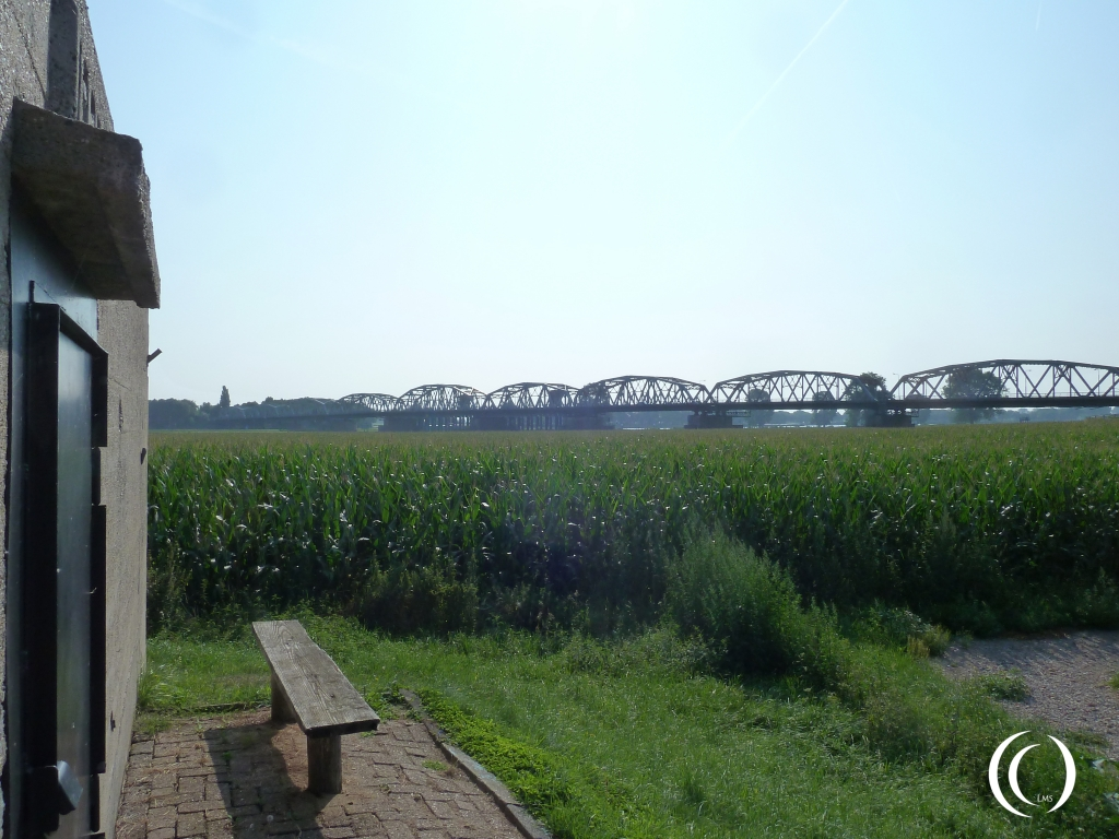 North Casemate with a view on the bridge, it was overpowered on 17 of September 1944 during Operation Market Garden