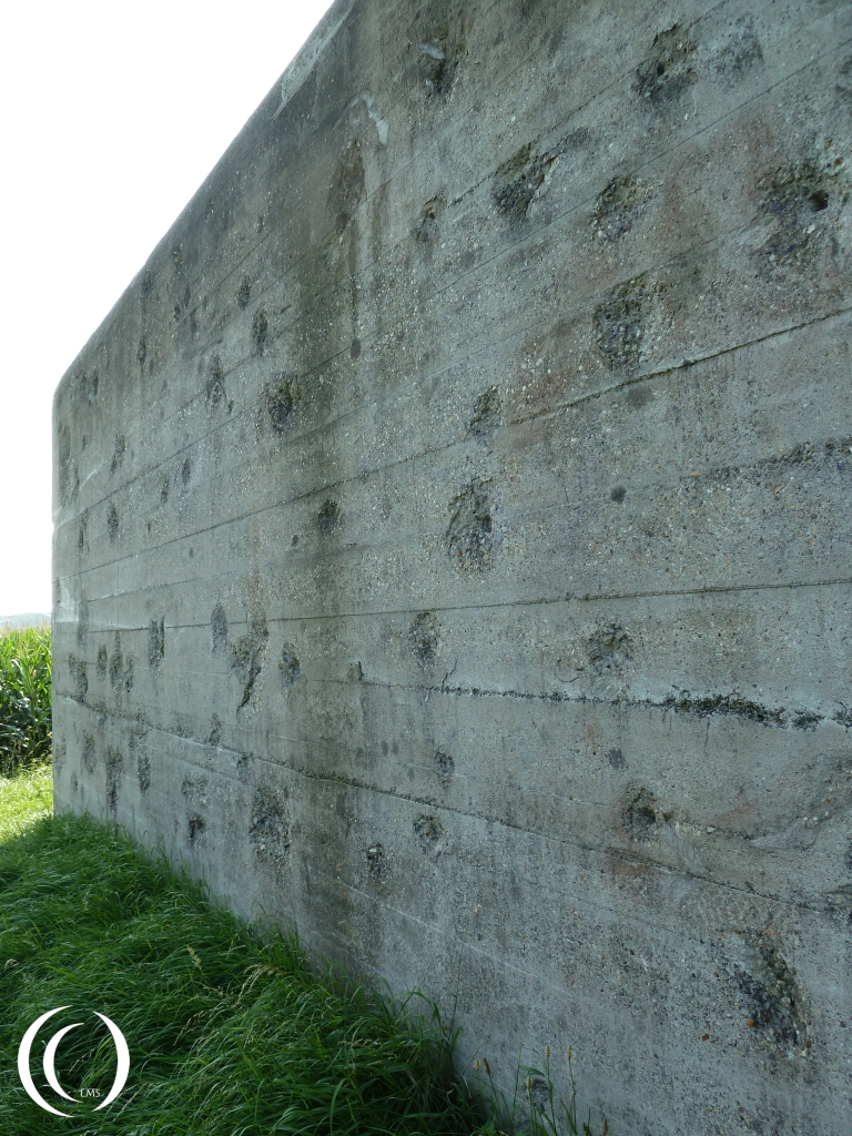 North Casemate. Combat damage from the John S. Thompson crew
