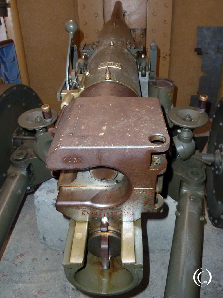 Detail of the 5cm 1/50 Diderius canon Kornwerderzand