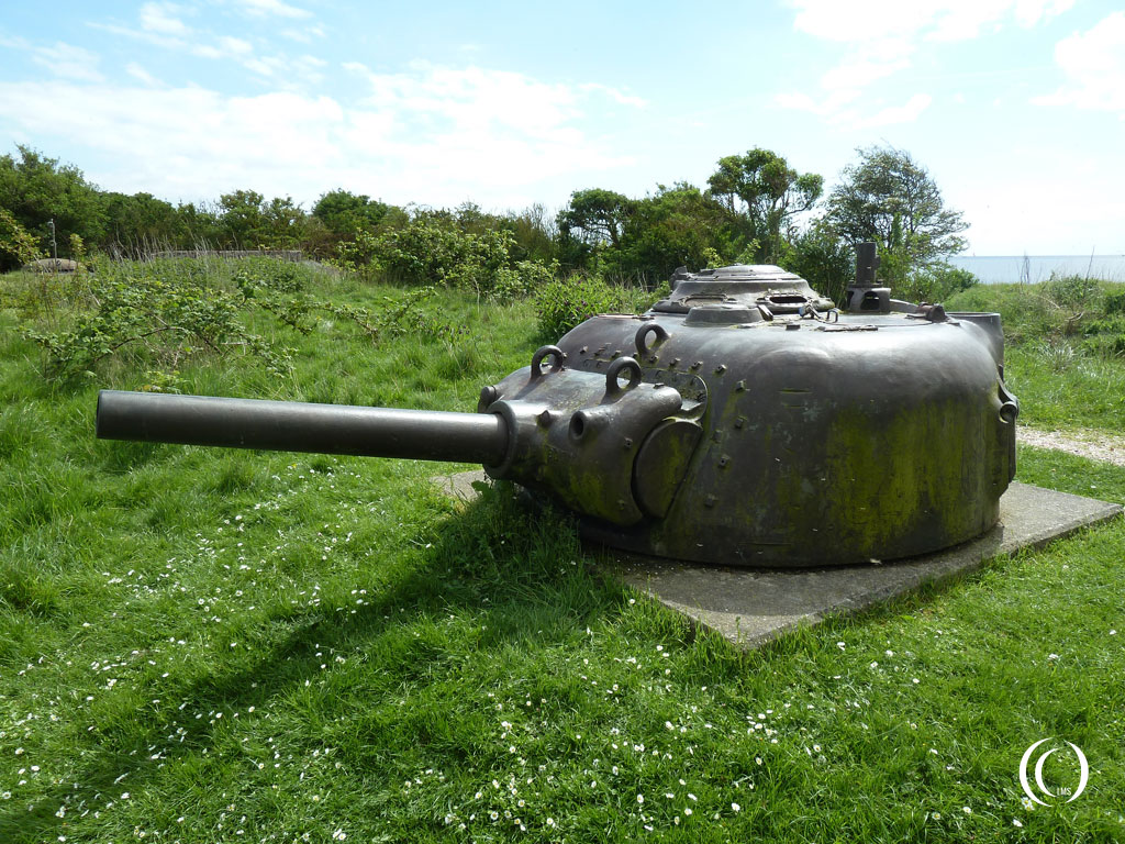 This Sherman M4A3 tank turret that you can find walking towards casemate VII was installed after WW2  Kornwerderzand