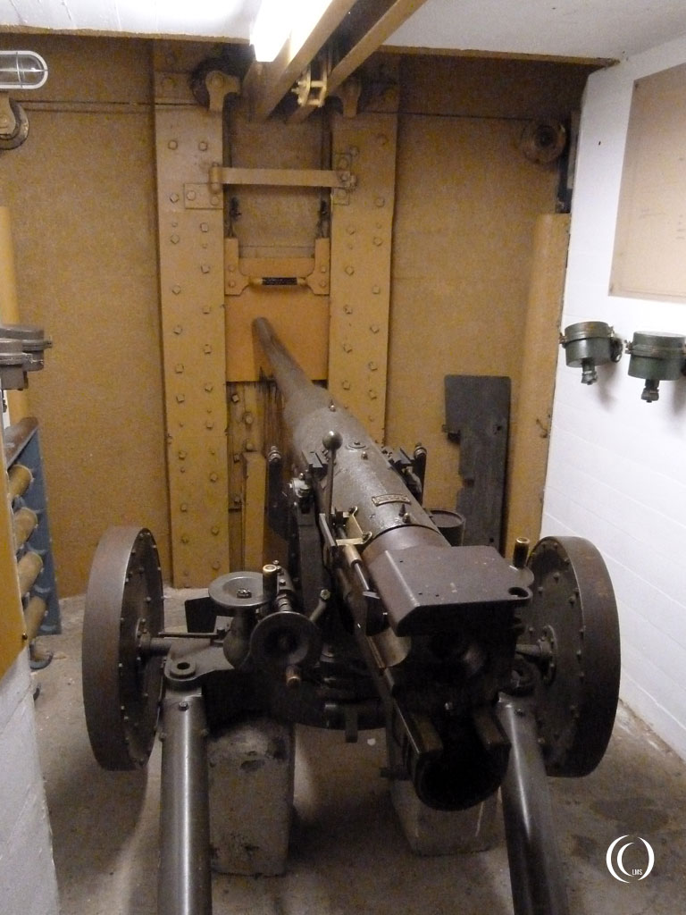 One of the original 5cm 1/50 Siderius canons of Kornwerderzand