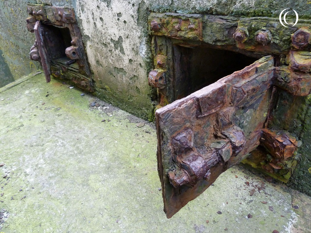 Close up of the ammunition storage doors of casemate I Kornwerderzand
