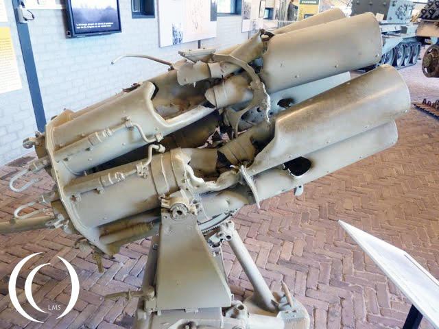 German Nebelwerfer or Moaning minnie in Overloon