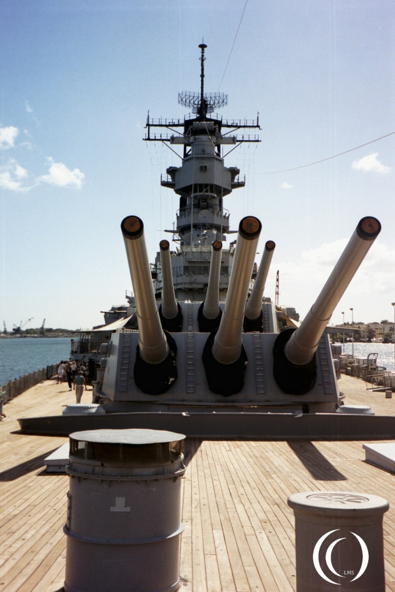 USS Missouri and her 16 inch guns - Photo by Marcel Langeslag
