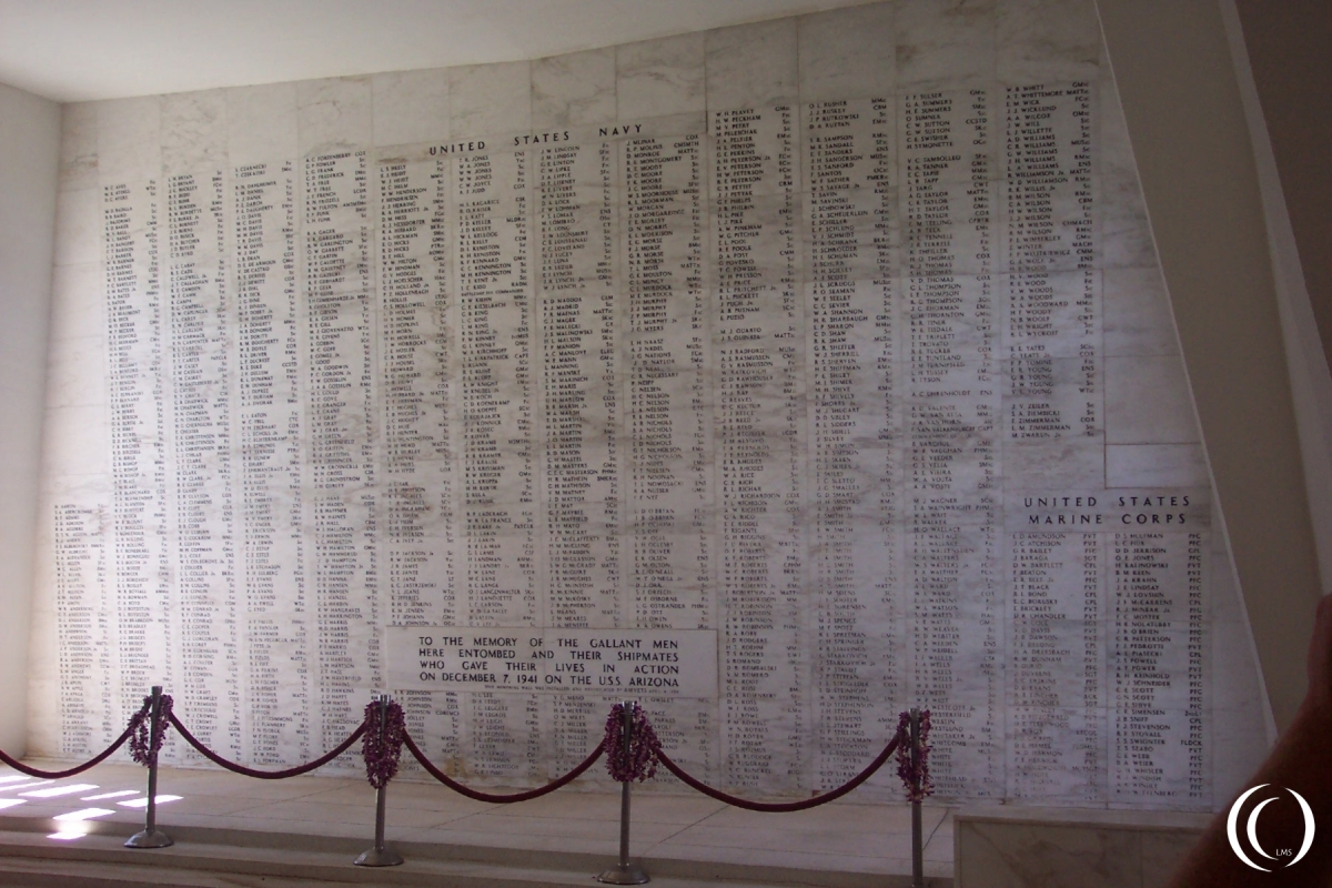 USS Arizona Names of the fallen - Photo Marcel Langeslag