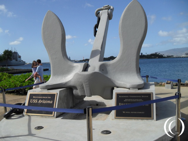 USS Arizona anchor  - photo by Peter Vermeulen