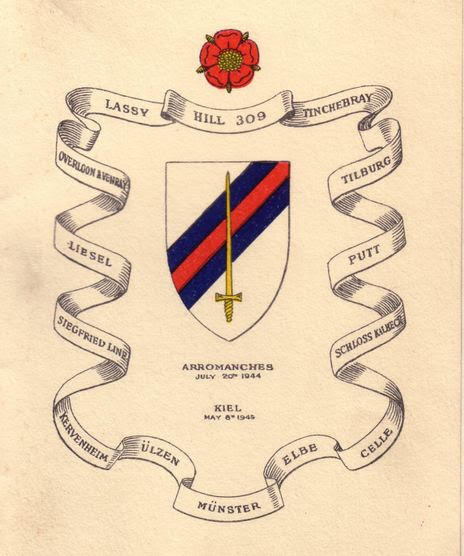 The 6th Guards Tank Brigade emblem and the cities on their route