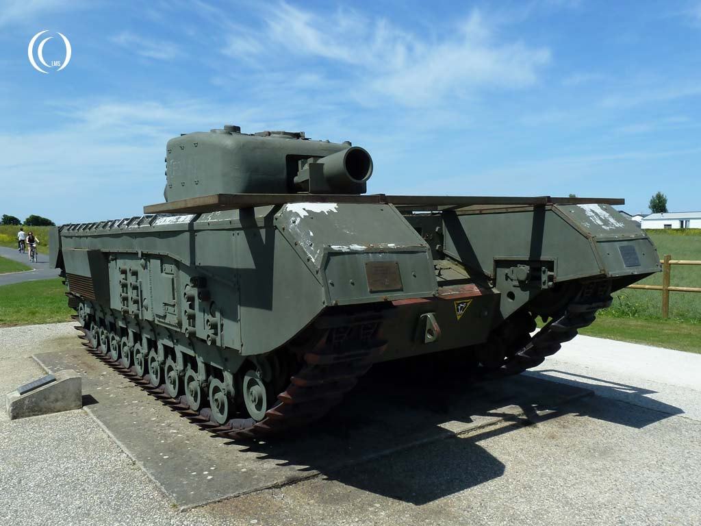 Churchill Avre Mk. IV tank at Lion-sur-Mer, Normandy, France