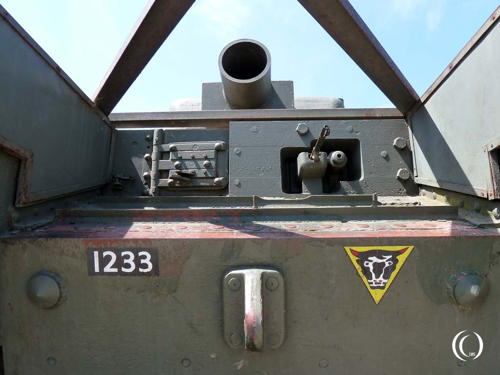 Frontal view of the Churchill Avre Mk. IV tank - Lion-sur-Mer, Normandy, France